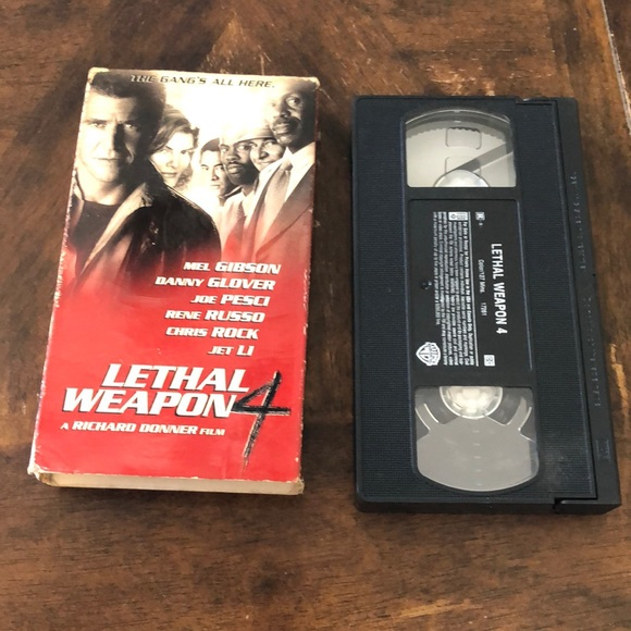 VHS VCR tape Lethal Weapon 4